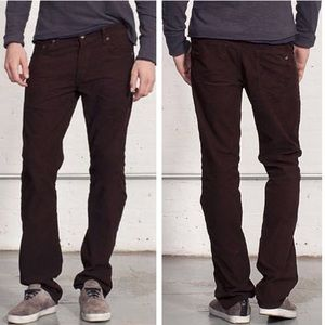 rag & bone Pants - Rag & Bone Slim Straight Corduroy Pants Wine Color